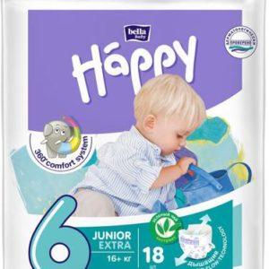 Подгузники Bella baby Happy, размер Junior Extra 6 (16+ кг), 18 шт