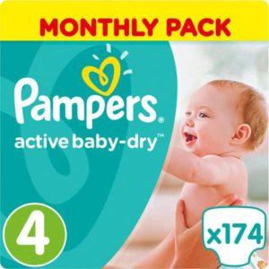 Pampers Подгузники Active Baby-Dry 9-14 кг Maxi 174 шт