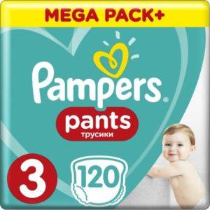 Pampers Pants Трусики 6-11 кг размер 3 120 шт