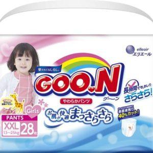 GOON Подгузники-трусики для девочек 13-25 кг, 28 шт