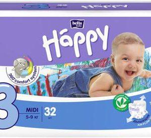 Подгузники Bella baby Happy, размер Midi 3 (5-9 кг), 32 шт