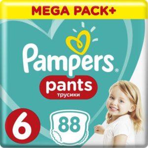 Pampers Pants Трусики от 16 кг (размер 6) 88 шт