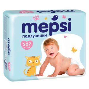 Подгузники MEPSI, 19, S (4-9кг), 27 шт