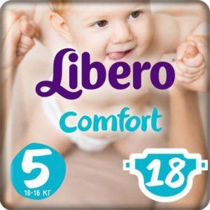 Libero Подгузники Comfort Size 5 (10-16 кг) 18 шт