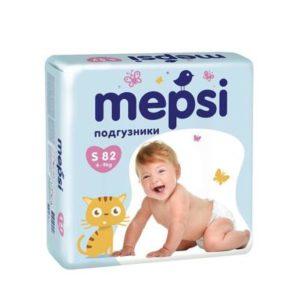 Подгузники MEPSI, 0138, S (4-9кг), 82 шт