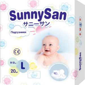 Подгузники SunnySan L (8 - 13 кг) 20 шт.
