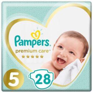 Pampers Подгузники Premium Care 11+ кг (размер 5) 28 шт