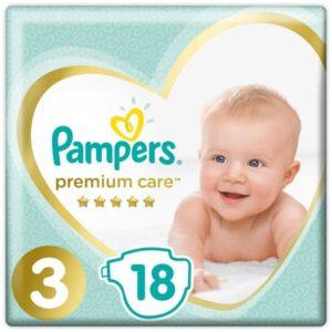 Pampers Подгузники Premium Care 6-10 кг (размер 3) 18 шт