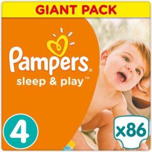 Pampers Sleep & Play Макси Подгузники 4, 9-14 кг, 86 шт