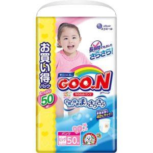 Goon Подгузники-трусики для девочек ULTRA JUMBO PACK, XL 12-20 кг., 50 шт., Goon