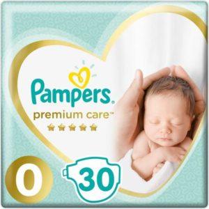 Pampers Подгузники Premium Care 1,5-2,5 кг (размер 0) 30 шт