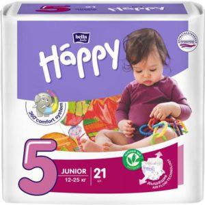 Подгузники Bella baby Happy, размер Junior 5 (12-25 кг), 21 шт