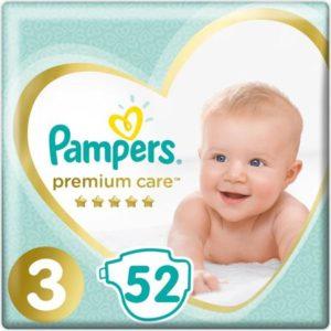 Pampers Подгузники Premium Care 6-10 кг (размер 3) 52 шт