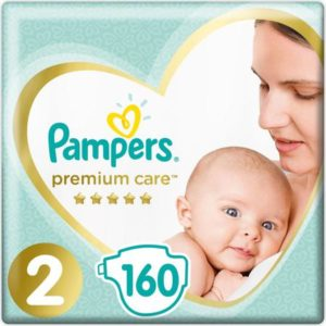 Pampers Подгузники Premium Care 4-8 кг (размер 2) 160 шт