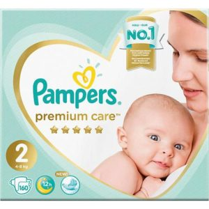 Pampers Подгузники Pampers Premium Care 4-8 кг, размер 2, 160 шт.