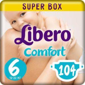 Libero Подгузники Comfort Size 6 (12-22 кг) 104 шт