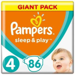 Подгузники Pampers Sleep&Play 4 (8-14 кг) 86 шт