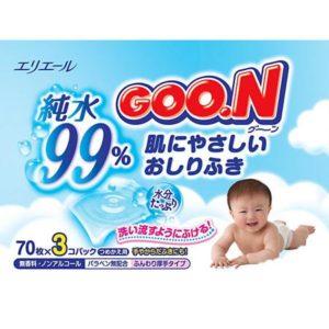 Goon Влажные детские салфетки Goon, 3 х 70 шт.