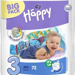 Bella Подгузники для детей Baby Happy размер Midi 3 5-9 кг 72 шт