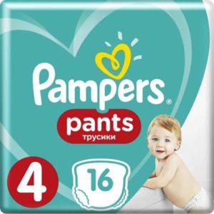Pampers Pants Трусики 8-14 кг (размер 4) 16 шт