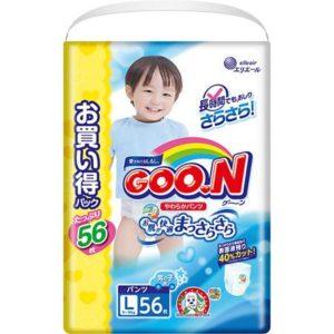 Goon Подгузники-трусики для мальчиков ULTRA JUMBO PACK, L 9-14 кг., 56 шт., Goon