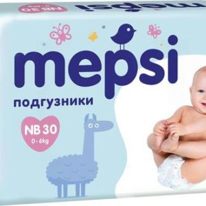 Mepsi Подгузники NB, до 6кг, 30 шт