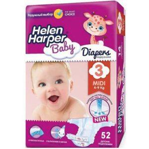 Helen Harper Baby Подгузники Midi Helen Harper Baby 4-9 кг., 52 шт.
