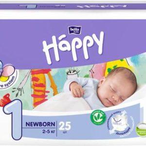 Bella baby Happy Подгузники Newborn 2-5 кг 25 шт