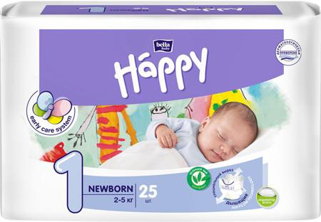 Bella baby Happy Подгузники Newborn 2-5 кг 25 шт