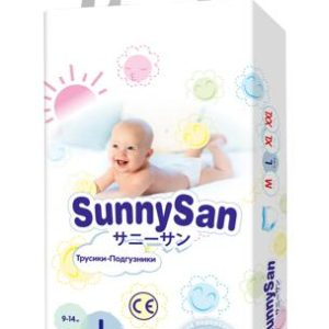 Трусики-подгузники SunnySan L (9-14 кг) 44 шт.