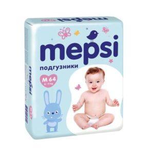 Подгузники MEPSI, 0139, M (6-11кг), 64 шт