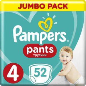 Pampers Pants Трусики 9-15 кг (размер 4) 52 шт