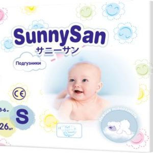 Подгузники SunnySan S (3 - 6 кг) 26 шт.