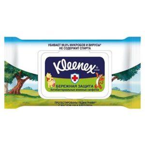 Kleenex Антибактериальные влажные салфетки Kleenex Disney, 40 шт.