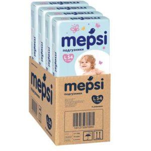 Подгузники MEPSI Детские одноразовые