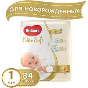 HUGGIES Подгузники Huggies Elite Soft 1, до 5кг, 84 шт.