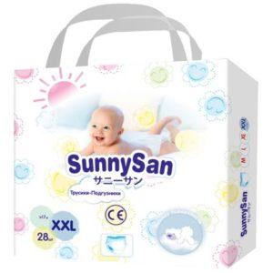 Трусики-подгузники SunnySan XXL с 17 кг 28 шт.