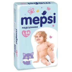 Подгузники MEPSI, 0140, L (9-16кг), 54 шт