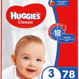 Huggies Подгузники Classic 4-9 кг (размер 3) 78 шт