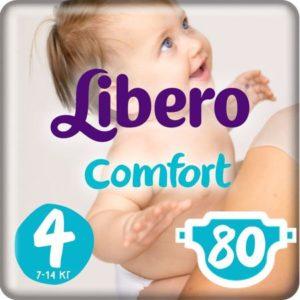 Libero Подгузники Comfort Size 4 (7-14 кг) 80 шт