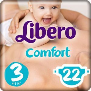 Libero Подгузники Comfort Size 3 (4-9 кг) 22 шт
