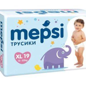 Трусики-подгузники MEPSI, 0143, XL (12-22 кг), 19 шт