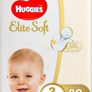 Huggies Подгузники Elite Soft 5-9 кг (размер 3) 80 шт