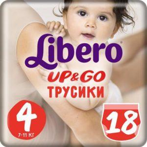 Libero Трусики Up&Go Size 4 (7-11 кг) 18 шт