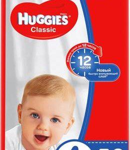 Huggies Подгузники Classic 7-18 кг (размер 4) 50 шт