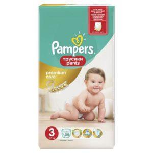 Pampers Premium Care Трусики 6-11 кг (размер 3) 56 шт
