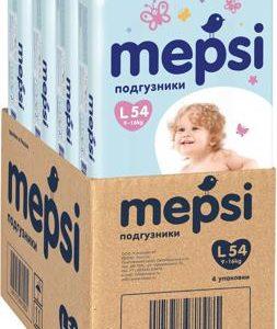 Mepsi Подгузники L 9-16 кг 54 шт 4 упаковки
