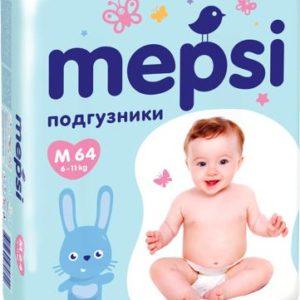 Подгузники для малышей Mepsi Mepsi подгузники M (6-11 кг) 64 шт.