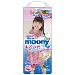 Трусики-подгузники Moony для девочек XXL 13-25 кг