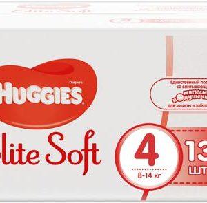 Huggies Подгузники Elite Soft 8-14 кг ( размер 4) 132 шт